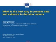 What is the best way to present data and evidence to ... - IPSC