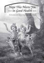 Hope This Meets You — in Good Health — - the ISKCON Health ...