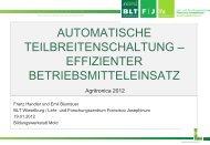 Automatische Teilbreitenschaltung - Landwirt.com
