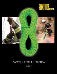 Sterling Rope Safety, Rescue & Tactical Catalog 2012 English (pdf)