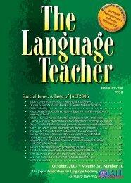 Special Issue: A Taste of JALT2006 - JALT Publications