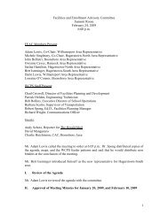 Minutes - Washington County, MD Public Schools