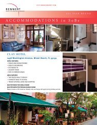 ACCOMMODATIONS in SoBe