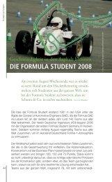 DIE FORMULA STUDENT 2008 - auf Zukx, Ihrem Karriereportal.