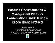 Baseline Documentation & Management Plans for Conservation ...