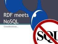 RDF meets NoSQL - SEMTECH 2011: The Semantic Technology ...