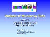 slide show - Bioinformatics and Research Computing - MIT
