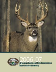 2006-07 deer Report - Arkansas Game and Fish Commission