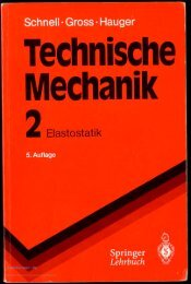 Schnell / Gross / Hauger Technische Mechanik 2. Elastostatik