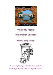Are You Being Served.pdf - Birmingham Disability Resource Centre