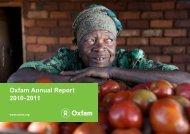 Oxfam Annual Report 2010-2011 - Oxfam International