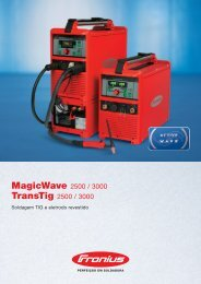 Soldadura TIG Fronius MagicWave / TransTig 2500 / 3000 - Ambitex