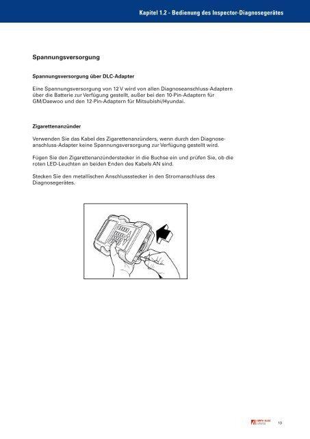 Inspector Diagnosegerät Bedienhinweis 95990100 - Autoteilefrau.eu