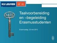 Taalvoorbereiding en –begeleiding Erasmusstudenten - Epos
