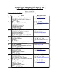 List of Participants - Department of Biotechnology