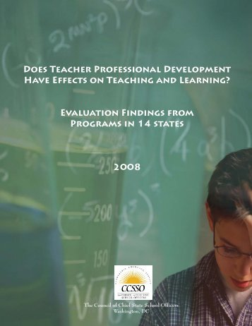 Cross-State Analysis of Evaluations of Professional Development for ...