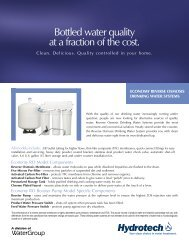 Hydrotech E50TFC-3 Economy System Product Brochure - aQuatell
