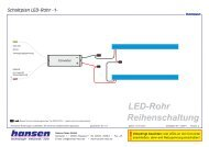 Schaltpläne - Hansen-LED