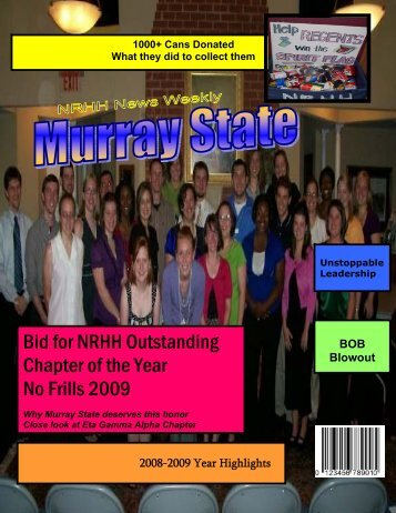 Bid for NRHH Outstanding Chapter of the Year No Frills ... - saacurh