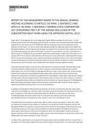 Bericht des Vorstands an die Hauptversammlung zu Punkt 7 der ...