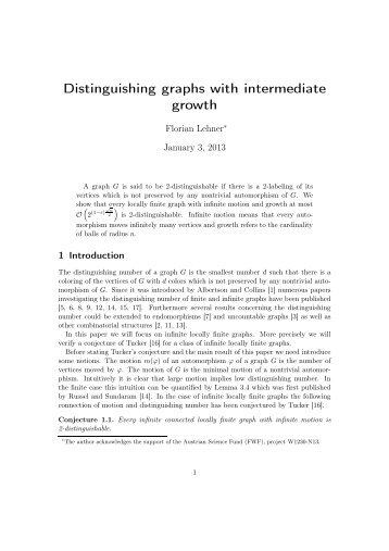 Distinguishing graphs with intermediate growth