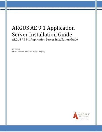 ae 9 1 calculation manual pdf argus software rh yumpu com Argus Software Deloitte Argus Program