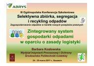 Zintegrowany system gospodarki odpadami w oparciu o zasady ...