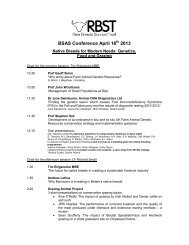 RBST Seminar agenda - Rare Breeds Survival Trust
