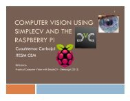 COMPUTER VISION USING SIMPLECV AND THE RASPBERRY PI