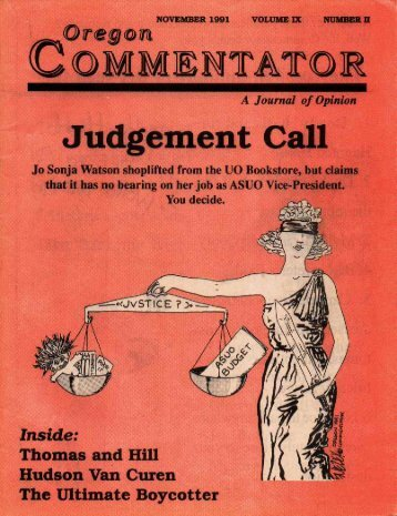 Issue 1 - Oregon Commentator