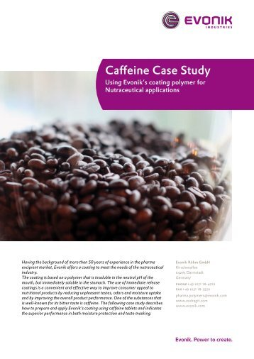 caffeine study Caffeine use disorder: it's real, and it warrants more attention caffeine is the most widely used drug in the world excessively are unable to reduce consumption despite knowledge of recurrent health problems associated with continued caffeine use, the study says.
