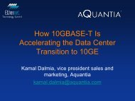 How 10GBASE-T Is Accelerating the Data Center Transition to 10GE