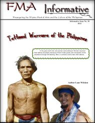 Tattooed Warriors of the Philippines - FMA Informative