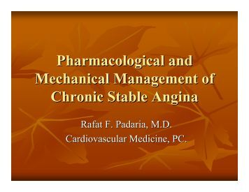 Pharmacological and Mechanical Management of Chronic Stable ...