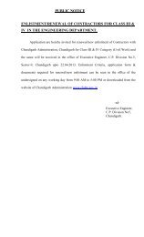 Renewal/New Enlistment of Contractors for Class-III ... - Chandigarh