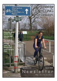 Cambridge Cycling Campaign - Newsletter 23