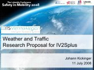 Weather and traffic research project - Lakeside Conference
