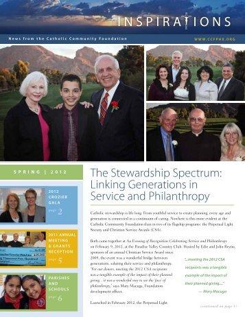 Spring 2012 Newsletter - Catholic Community Foundation