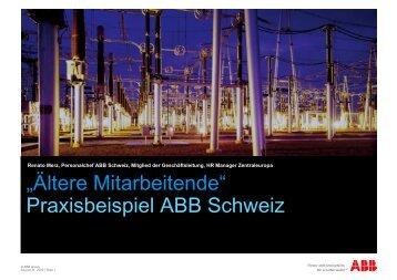Übersicht - bei Pro Senectute Schweiz