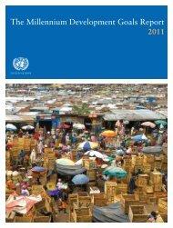 The Millennium Development Goals Report 2011