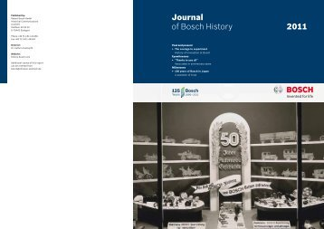 Journal of Bosch History 2011 - Bosch worldwide