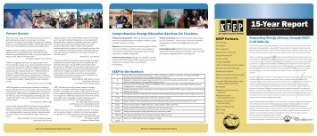 KEEP's 15-Year Report - Environmental Education in Wisconsin