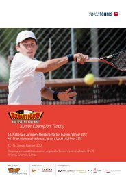 Programmheftn (inkl. Interview mit Roger Federer) - Tennis ...