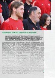 Soyez les ambassadeurs de la Suisse - Schweizerische Metall-Union