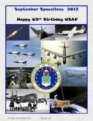 September Spacelines 2012 Happy 65th Birthday USAF