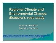 Regional Climate and Environmental Change: Moldova's ... - NEESPI