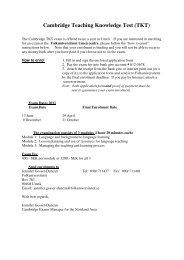 Cambridge Teaching Knowledge Test (TKT) - Folkuniversitetet