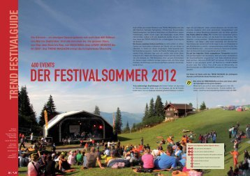 Festivals 06-2012_Special - TREND MAGAZIN ONLINE