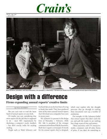 Design with a difference - Nesnadny + Schwartz