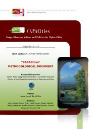 CAPACities - Alpine Space Programme